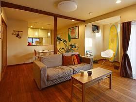 日式自然窗簾沙發植物茶幾布藝沙發布藝窗簾茶杯設計方案