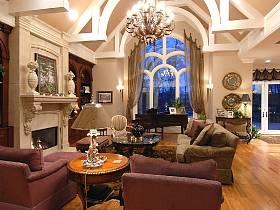欧式欧式风格奢华客厅设计案例