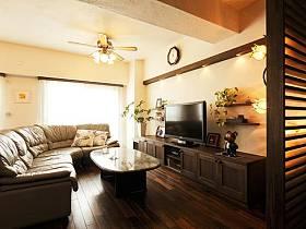 欧式田园清新温馨典雅浪漫客厅沙发植物电视柜茶几装修效果展示