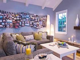 地中海地中海風格客廳背景墻沙發布藝沙發客廳沙發設計案例