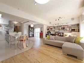 客廳沙發木質地板圖片