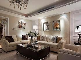 美式美式風格客廳書房陽臺設計案例