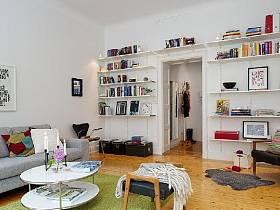 簡歐簡歐風格客廳書房書架椅設計案例展示