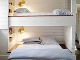 现代简约简约卧室儿童房上下床设计图