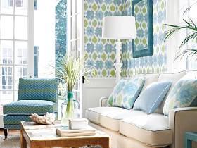 清新精致自然客厅壁纸装修案例