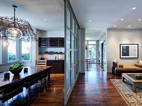 客廳餐廳隔斷玻璃門設計方案