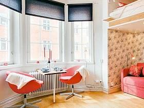 浪漫客厅阳台吧台茶几椅装修图