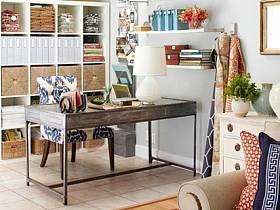 田園混搭清新自然復古辦公室實木家具裝飾品設計方案