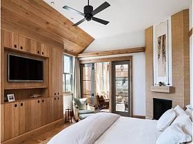 自然宜家簡約臥室背景墻電視背景墻裝修圖