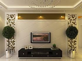 欧式复古温馨典雅奢华背景墙植物电视背景墙案例展示