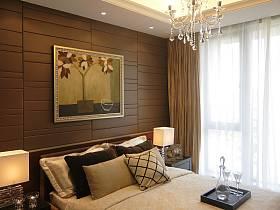 现代简约中式新古典卧室效果图