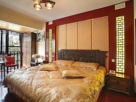 中式明清臥室裝修效果展示