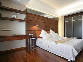 現代簡約臥室背景墻設計方案