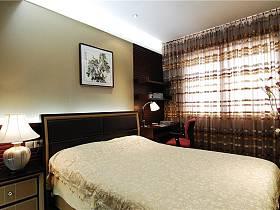 現代簡約臥室背景墻裝修圖