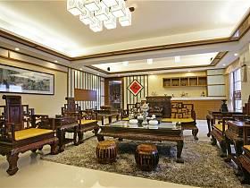中式客廳吊頂設計案例