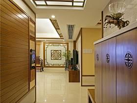 中式玄關吊頂設計案例