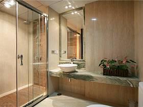 现代简约卫生间干湿分离案例展示