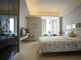 现代简约卧室背景墙案例展示