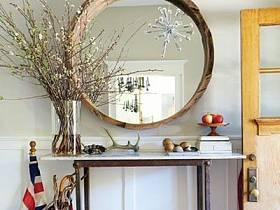 現代簡約美式簡約玄關桌子玄關柜裝修圖