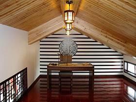 中式书房阁楼装修图