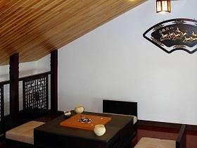 中式阁楼多功能室效果图