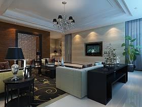 現代簡約簡歐客廳裝修案例