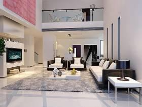 现代简约客厅效果图
