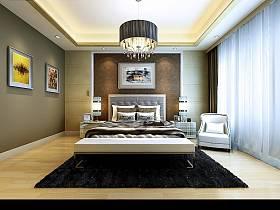 現代簡約簡歐臥室效果圖