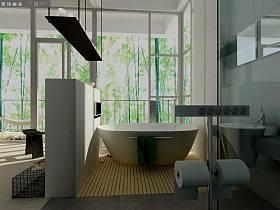 現代簡約浴室淋浴房裝修圖