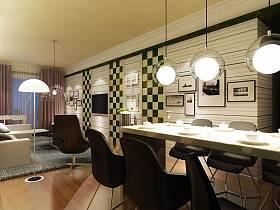 现代简约餐厅吧台装修效果展示