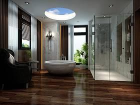 現代簡約浴室淋浴房設計圖