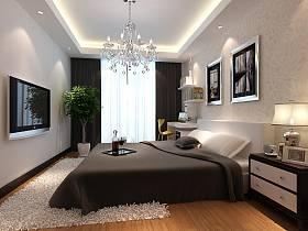 现代简约简欧卧室装修图