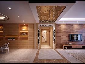 现代简约走廊设计图