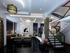新中式客厅楼梯案例展示