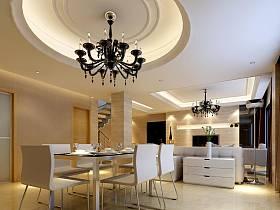 現代簡約餐廳吊頂裝修效果展示