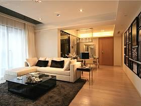現代簡約客廳走廊設計方案