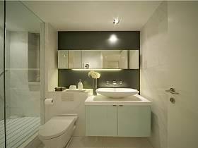 現代簡約衛生間浴室淋浴房效果圖