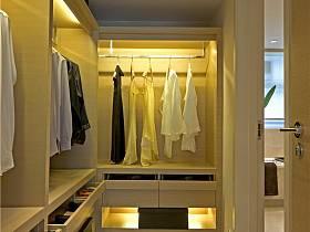 現代簡約衣帽間衣柜圖片