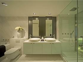 现代简约卫生间浴室淋浴房装修效果展示