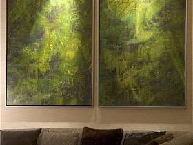 现代简约客厅背景墙沙发装修图