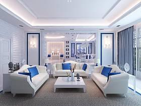 歐式明清混搭客廳設計方案