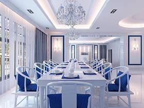 歐式明清混搭餐廳設計方案