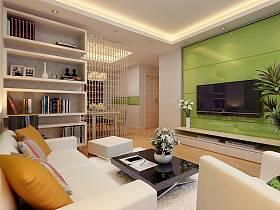 現代簡約客廳背景墻電視背景墻設計案例