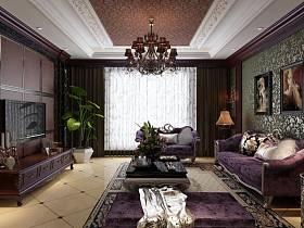 欧式新古典洛可可客厅设计案例