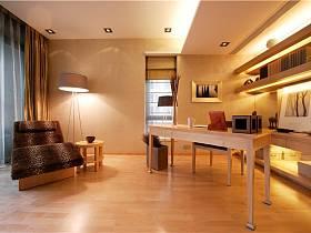 現代簡約書房收納設計案例
