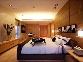 现代简约卧室吊顶图片