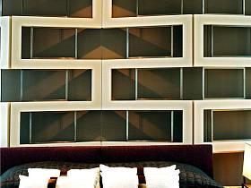 现代简约卧室背景墙设计图