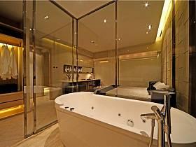现代简约衣帽间浴室淋浴房设计案例展示