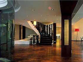 现代简约新中式客厅楼梯设计案例