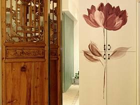 中式復古創意玄關隔斷玄關柜設計案例展示